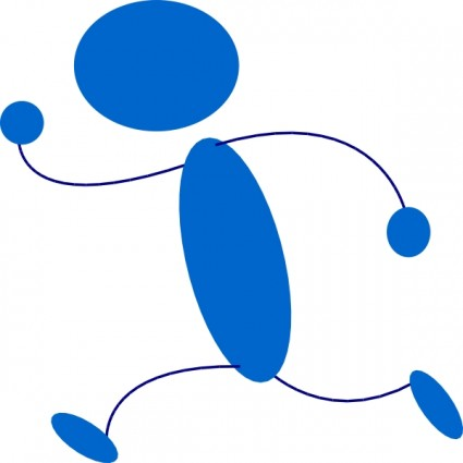 Blue Man Walking Clipart - Clipart Kid