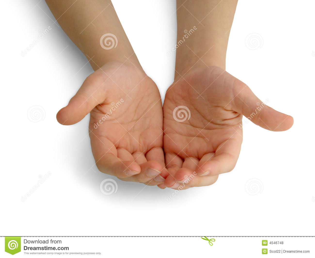 Child S Hands Holding Offering Giving Something Or Asking Begging For