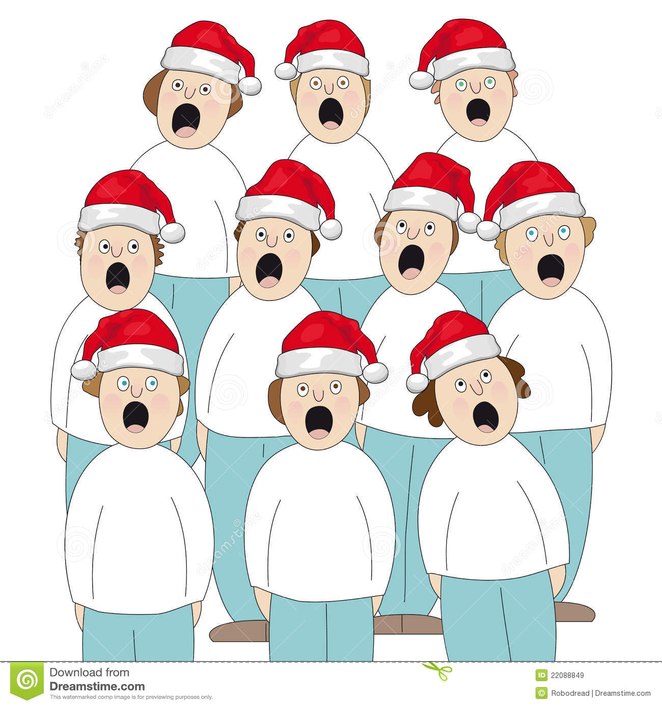 Choir Christmas Royalty Free Stock Images   Image  22088849