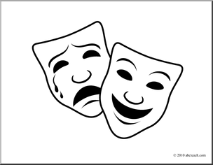 coloring pages of drama masks - photo#8