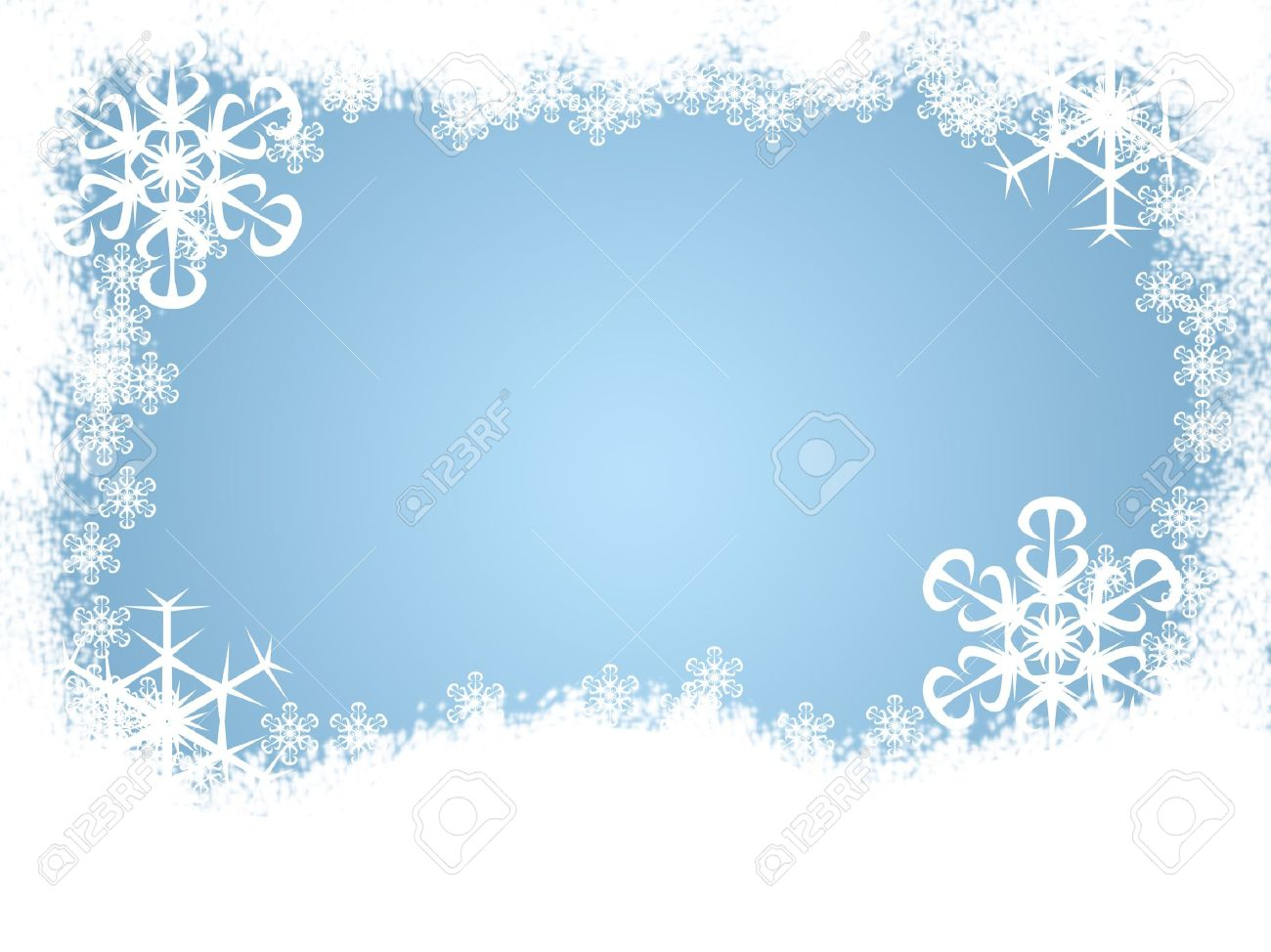 Download Winter Snow Borders Clipart