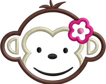 Girl Monkey Face Clipart - Clipart Kid