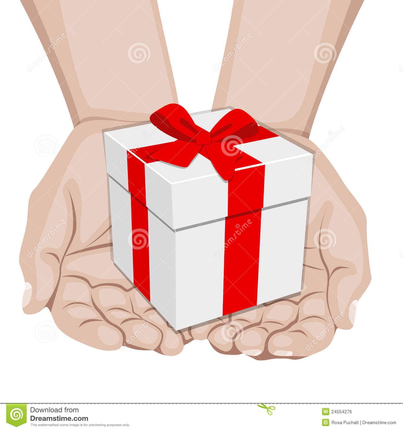 Hands Offering A Gift Royalty Free Stock Image   Image  24554276
