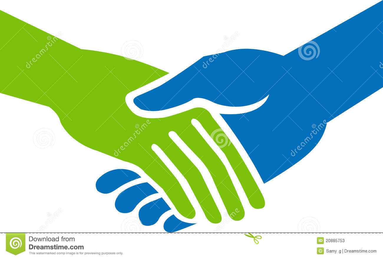 Illustration Art Of A Hand Shake With Isolated Background