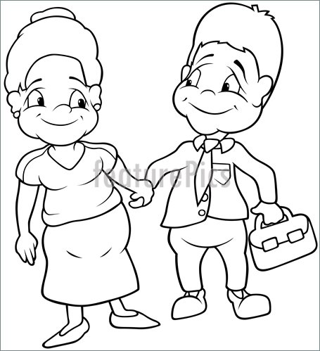 Illustration Of Aunt And Uncle  Royalty Free Vector Illustration At