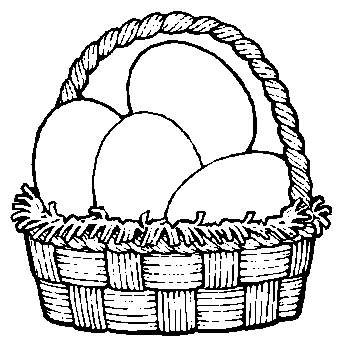 Large Easter Baskets Clip Art