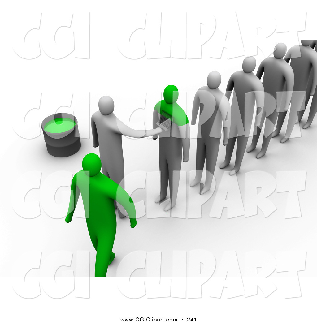 Line Of People Clipart Clip Art Of A Line Of 3d