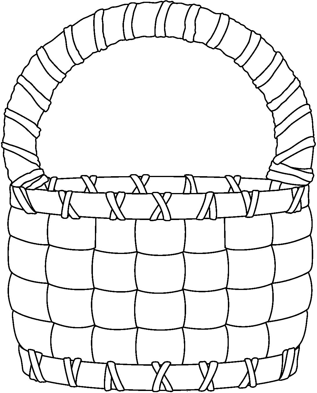Basket Clip Art Black And White : Empty basket black clipart suggest