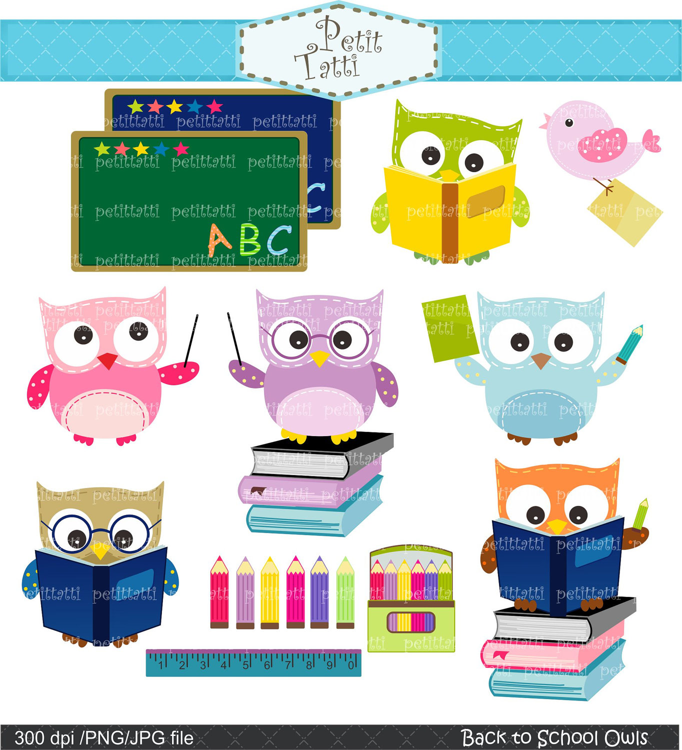 Owl Clip Art Digital Clip Art For All Use Back To By Petittatti