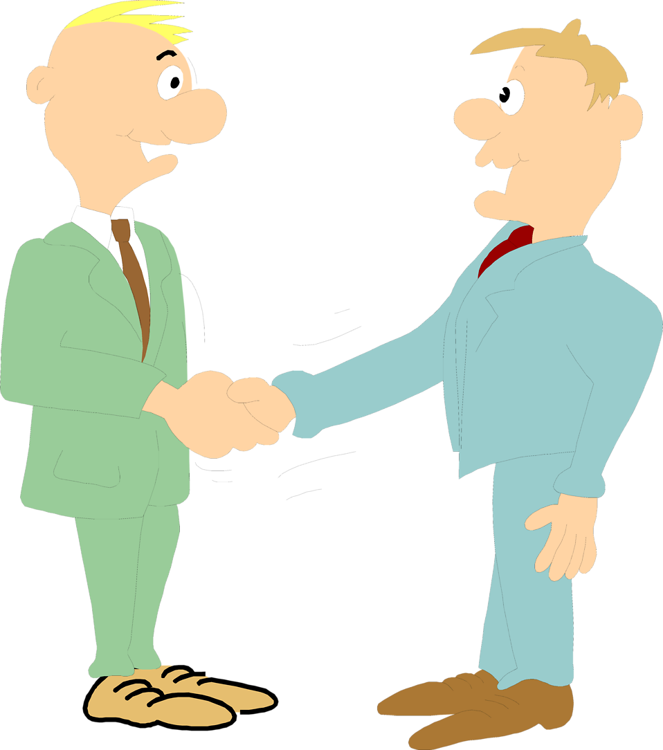Photo   Illustration Of A Pair Of Business Men Shaking Hands     3125