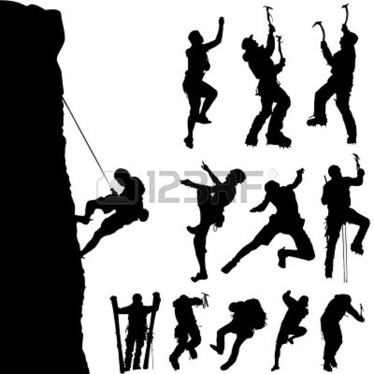 Rock Climbers Silhouette   City Beach   Pinterest