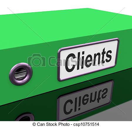 Stock Illustration   Clients File Containing Customer Buying Records
