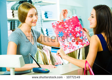 To Pretty Customer In The Mall With Smile   10772149   Shutterstock