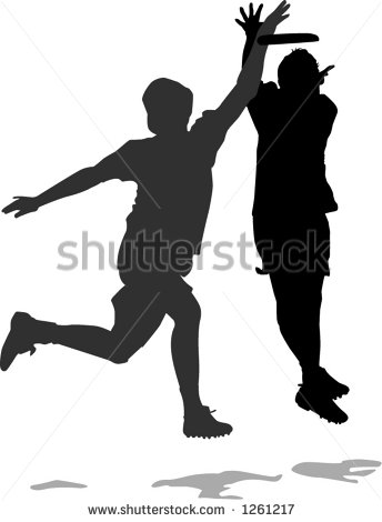 Ultimate Frisbee Clip Art Men Playing Ultimate Frisbee