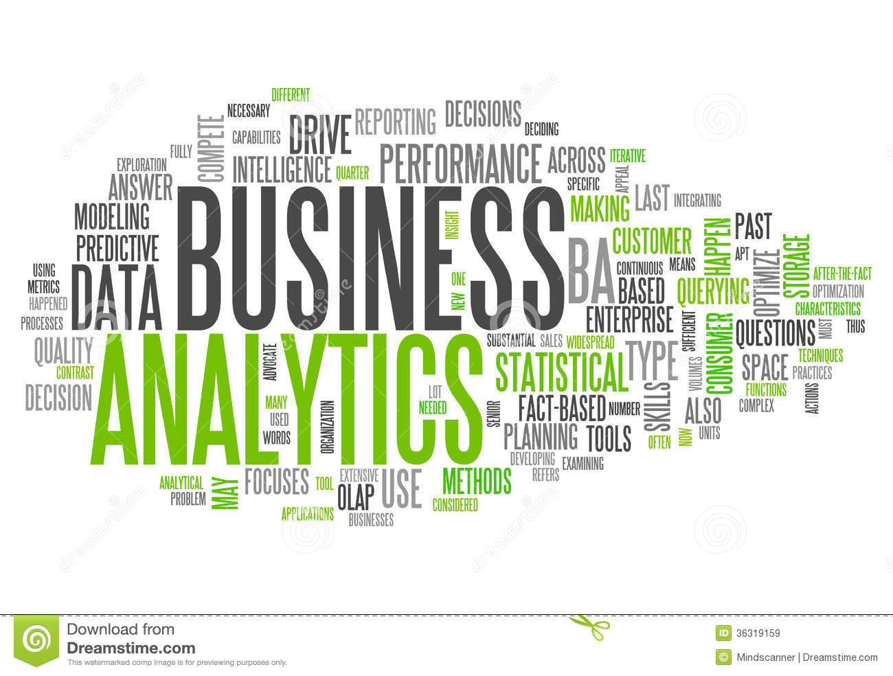 Word Cloud Business Analytics Royalty Free Stock Images   Image