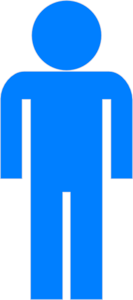 Blue Man Icon Clip Art Icon Vector Download Vector Clip Art Online