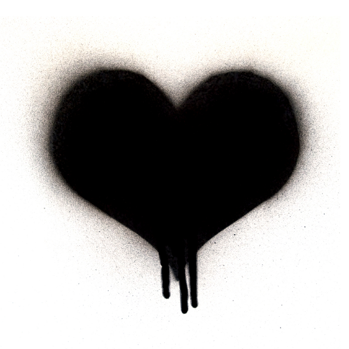 Black Heart Clipart - Clipart Kid
