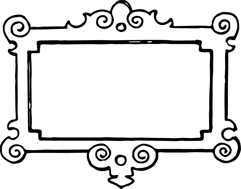 Clipart Black And White Vgosn Vintage Frame Border Clipart Black White