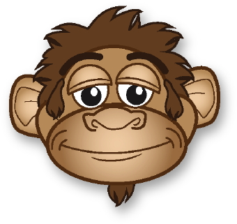 Cute Monkey Face Clipart - Clipart Kid