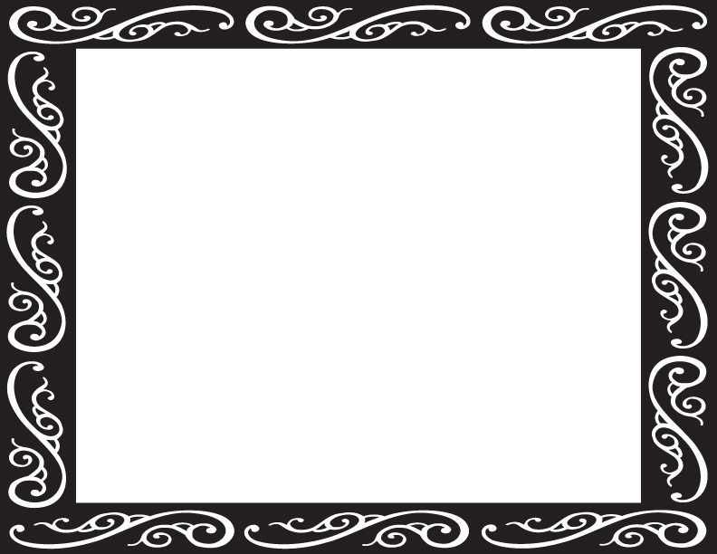 Fancy Frame Clip Art Black And White   Clipart Panda   Free Clipart