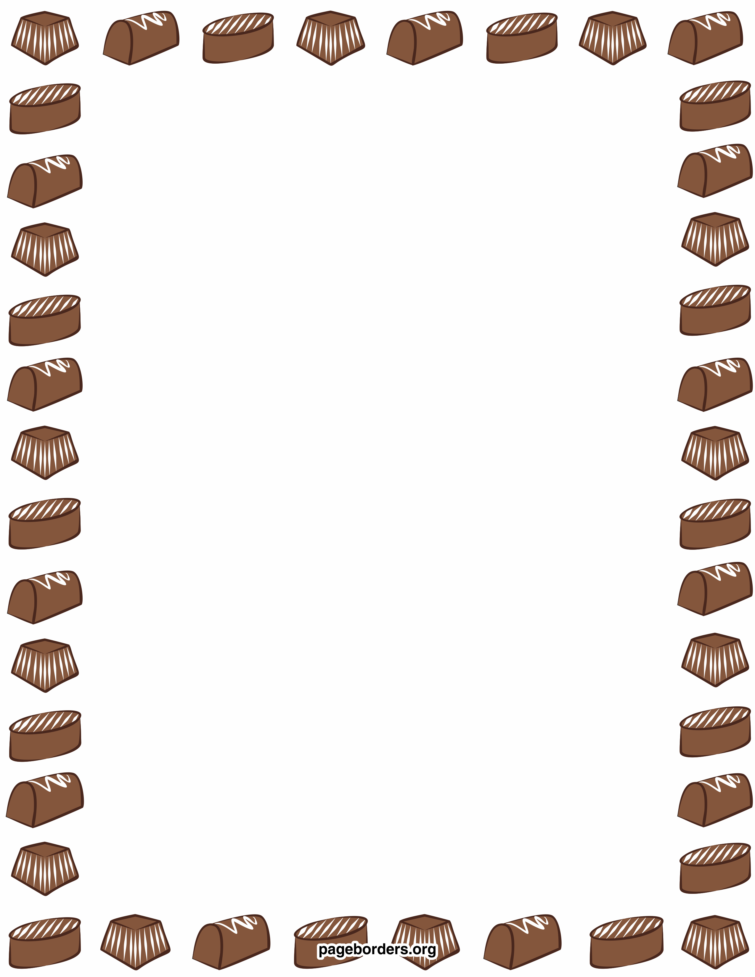 Chocolate Borders Clipart - Clipart Kid