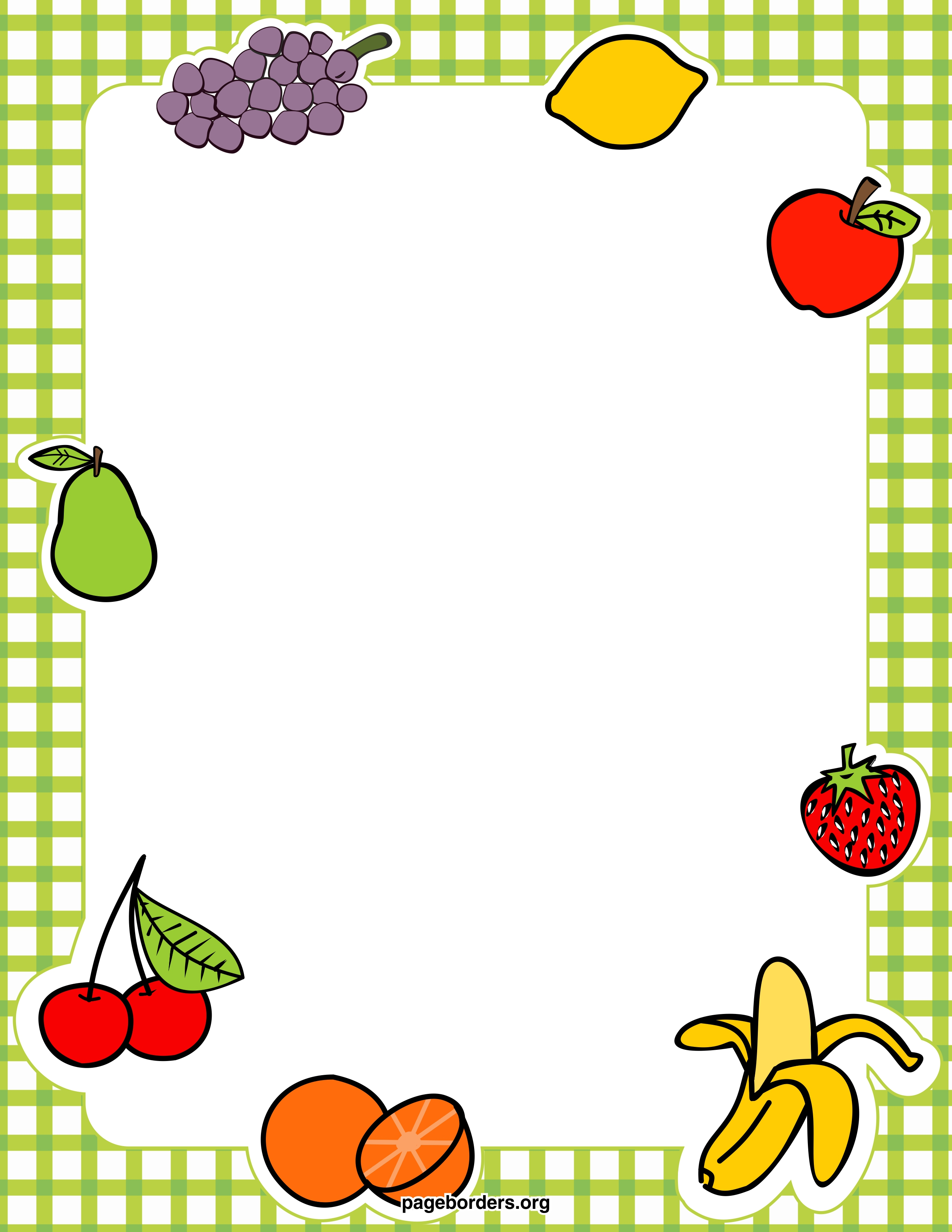 Free Food Clip Art Borders Cliparts Co