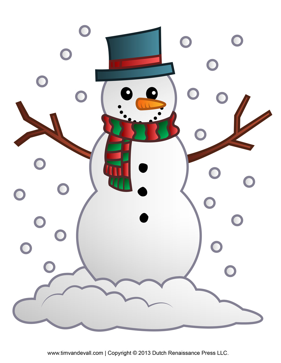 Free Snowman Clipart Template   Printable Coloring Pages For Kids