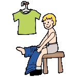 Clip Art Getting Dressed Clipart boy getting dressed clipart kid get pictures for classroom and therapy