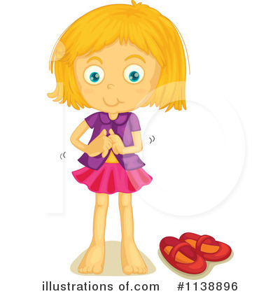 Girl Get Dressed Clipart