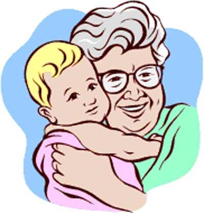 Grandma And Grandchild Clipart - Clipart Kid