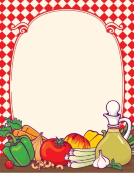Italian Food Borders Clip Art