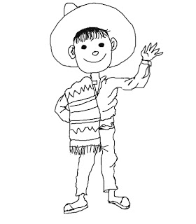 Mexican Boy Colouring Pages