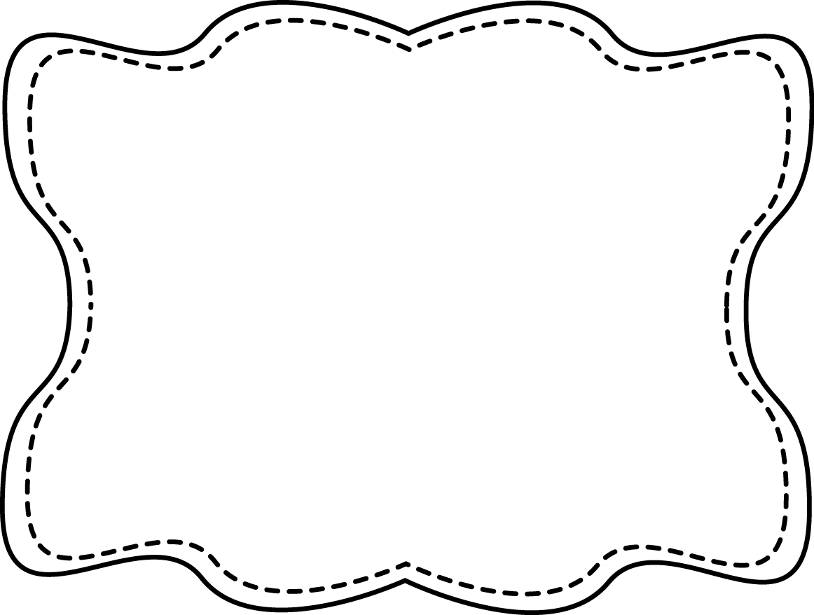 Oval Frame Clipart Black And White   Clipart Panda   Free Clipart