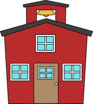 Red Schoolhouse Clip Art Image   Red Schoolhouse Vector Image With A