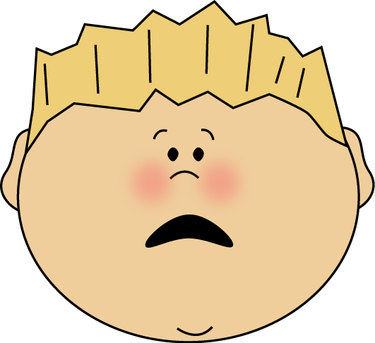 Scared Face Boy Clip Art Image   Face Of A Scared Boy With Blond Hair