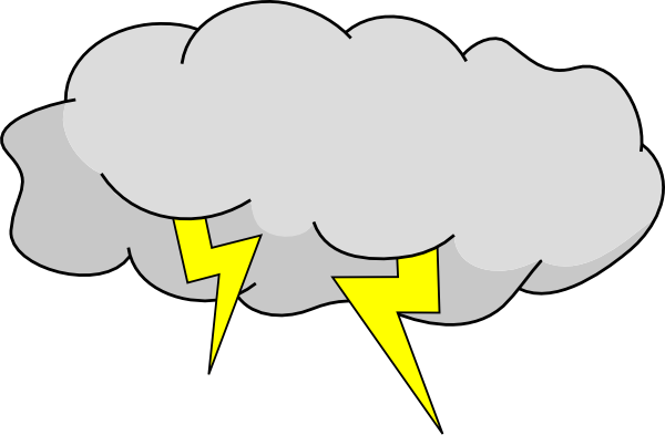 Storm Cloud Clip Art At Clker Com   Vector Clip Art Online Royalty