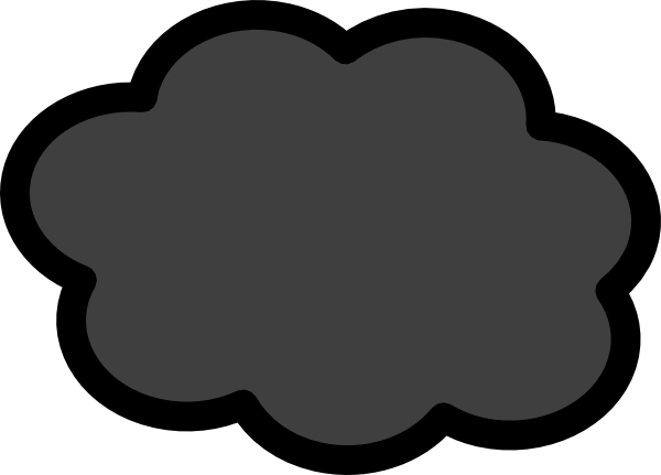 Storm Cloud Clipart Black And White   Clipart Panda   Free Clipart