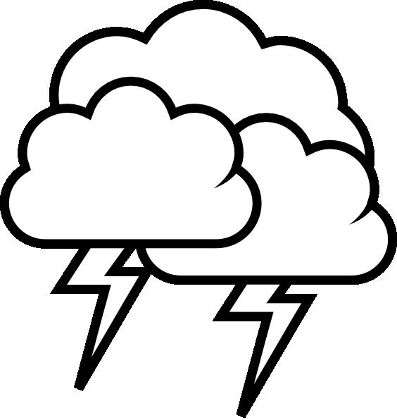 Tango Weather Storm   Outline Clip Art At Clker Com   Vector Clip Art