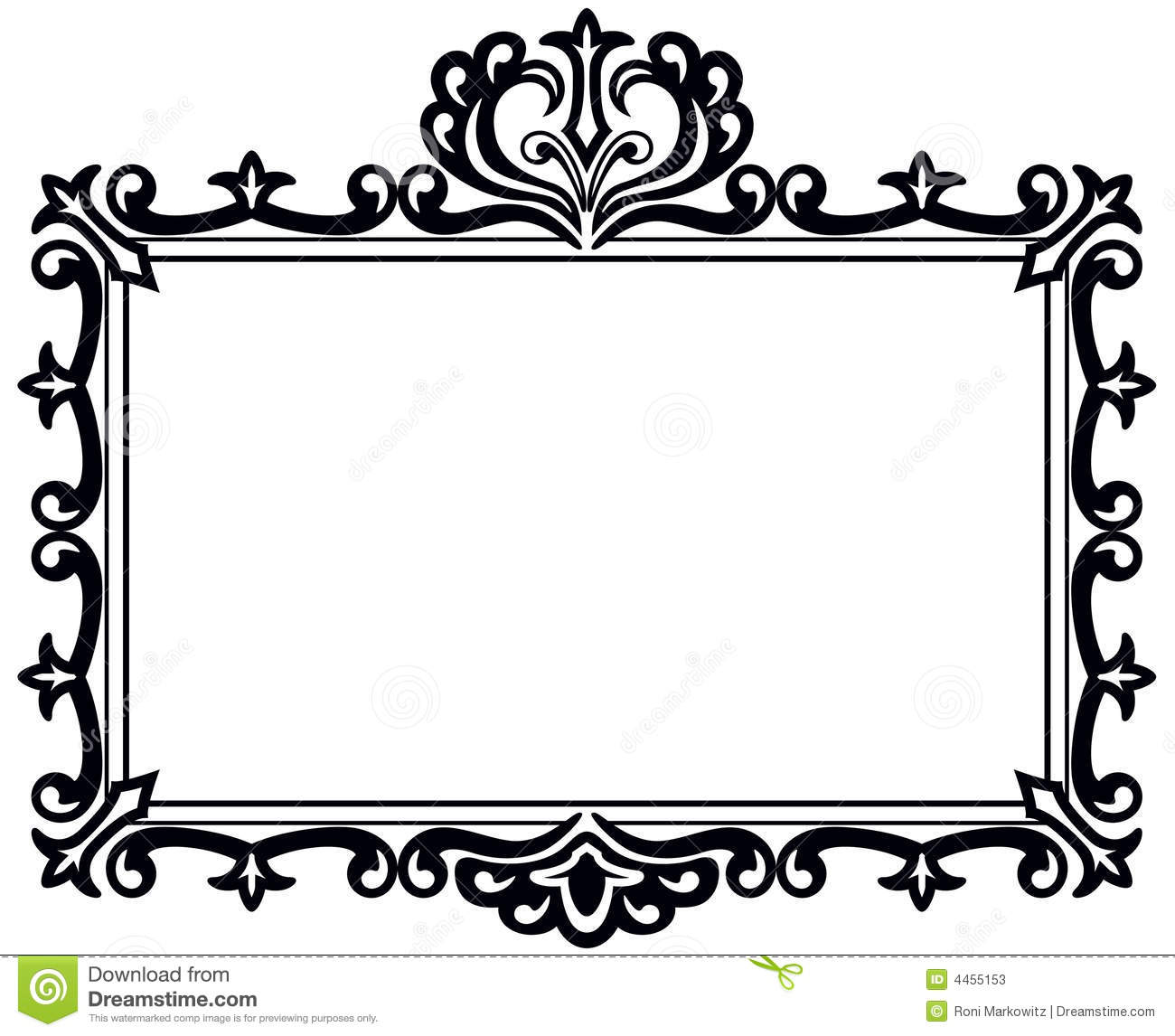 Vintage Rectangle Border Clipart - Clipart Suggest