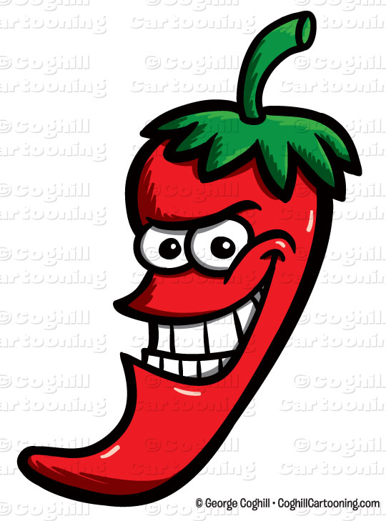 Cartoon Chili Pepper Clip Art Stock Illustration   Coghill Cartooning