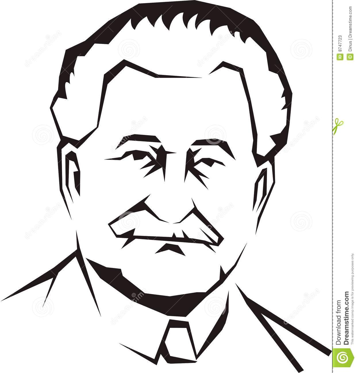 Cartoon Vector Outline Illustration Old Man Faces 47051833   Hd