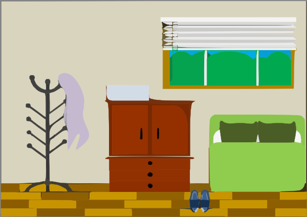 Clean Bedroom Clipart - Clipart Suggest
