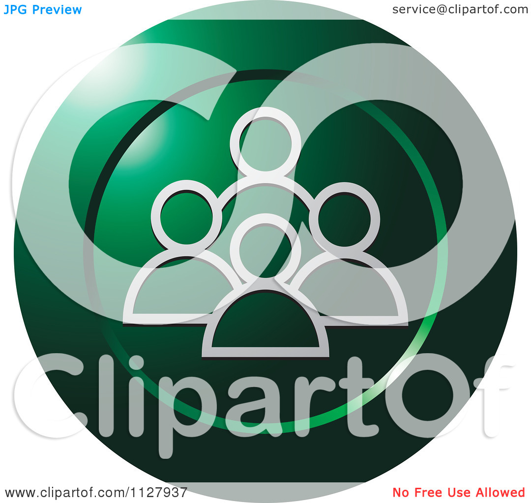 Clipart Of A Green Social Media Icon   Royalty Free Vector