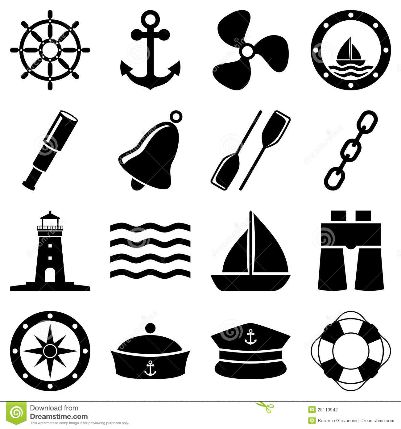 Nautical Clipart Black And White Clip Art Black And Whi...