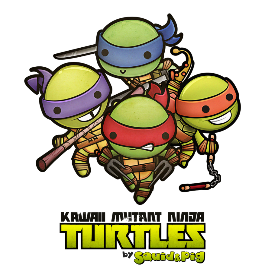 Kawaii Mutant Ninja Turtles By Squidpig On Deviantart