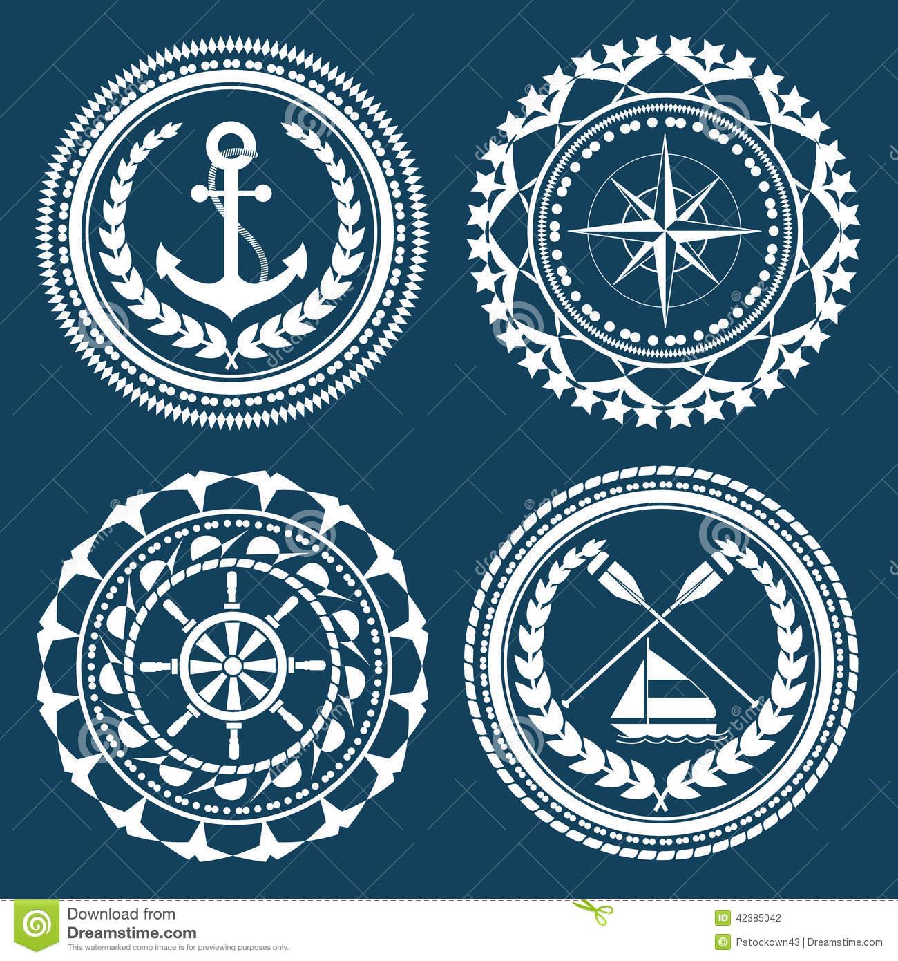 Nautical symbols clip art