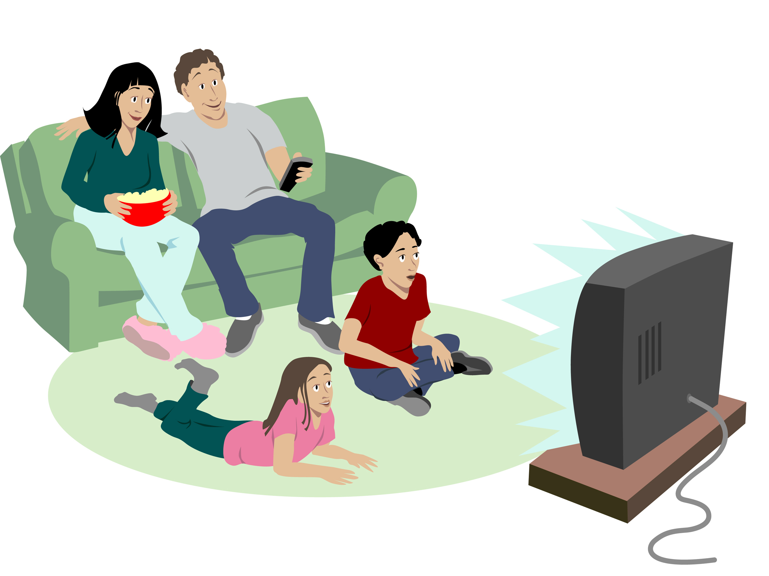 Pictures Of Kids Watching Tv   Cliparts Co