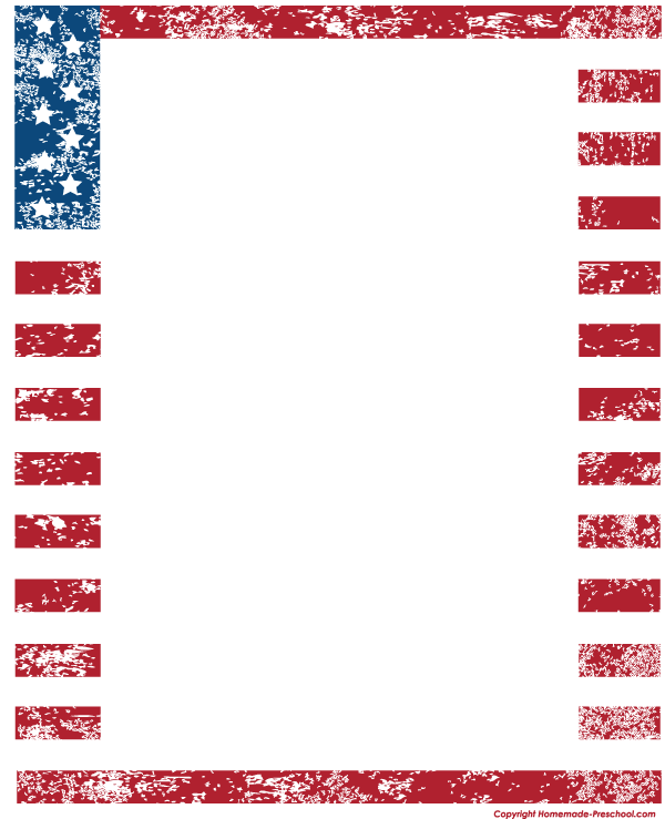 American Flag Borders And Frames Clipart - Clipart Kid