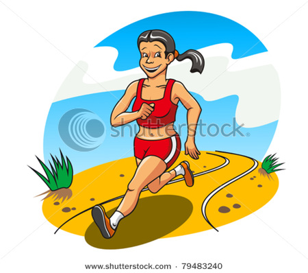 Retirement Clipart Clipart Cartoon Picture Of A Happy Woman Jogging On