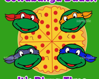 Teenage Mutant Ninja Turtles Pizza Boxes Lable Tmnt Pizza Boxes Lable
